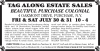 Purchase, NY Estate Sale -- Tag Along Estate Sales