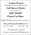 Fall Harvest Market Vendors Wanted & Classic Car Show
