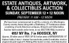 Seifert Auction Service Estate Antiques, Artwork, & Collectibles Auction