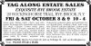 RYE BROOK, N.Y. Estate Sale by TAG ALONG ESTATE SALES