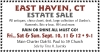 EAST HAVEN, CT ESTATE SALE, Sale by Tina H. Swirsky