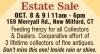 New Milford, CT Estate Sale
