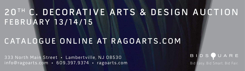 Rago 20TH C. Decorative Arts and Design Auction