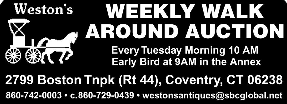 Weston's Weekly Walk Around Auction