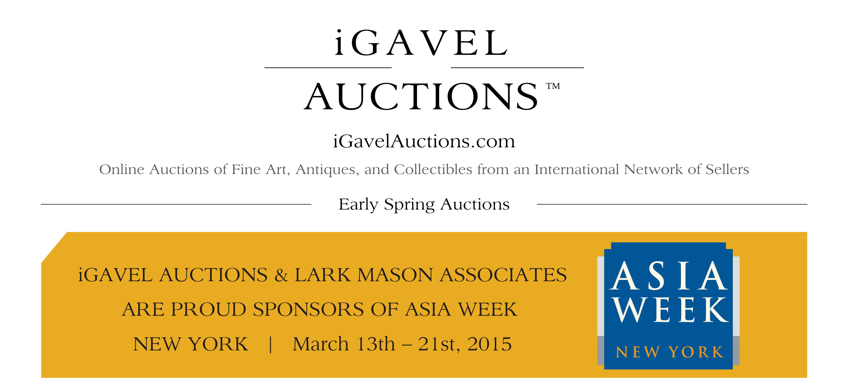 iGavel Early Spring Auctions