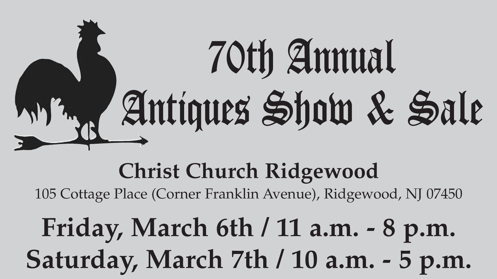 70th Annual Antiques Show & Sale Christ Church Ridgewood