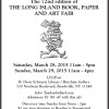 The 72nd edition of THE LONG ISLAND BOOK, PAPER AND ART FAIR