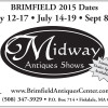 MIDWAY ANTIQUES SHOWS BRIMFIELD 2014 Dates
