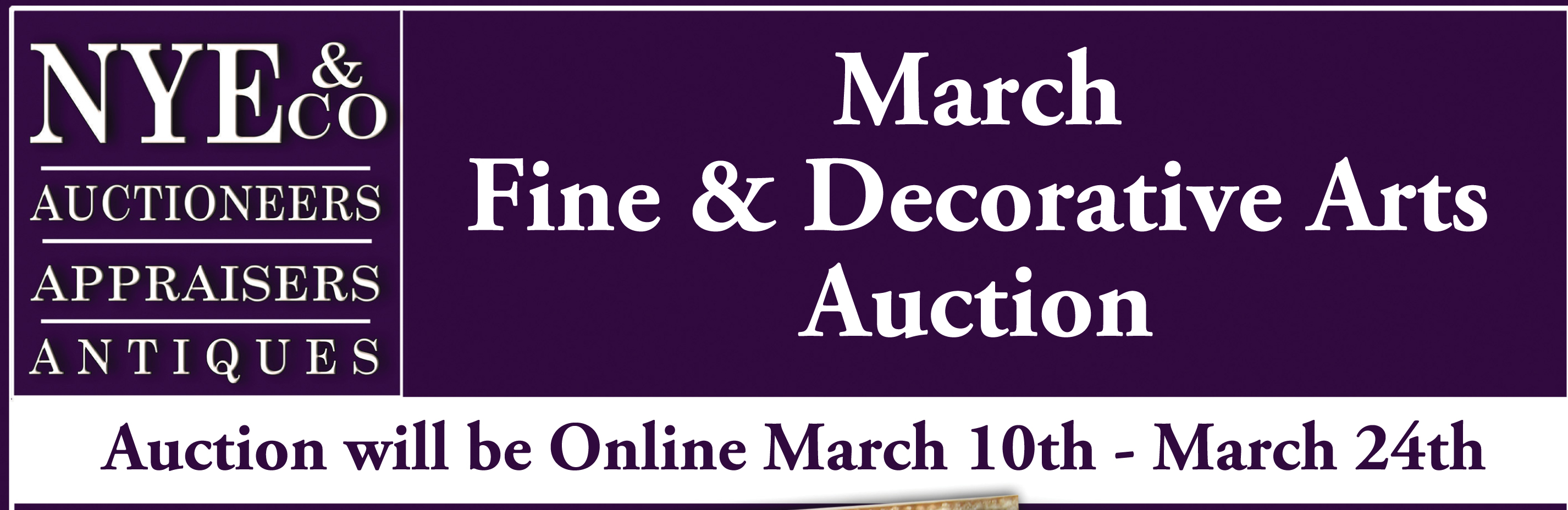 Nye & Co Fine and Decorative Arts Auction