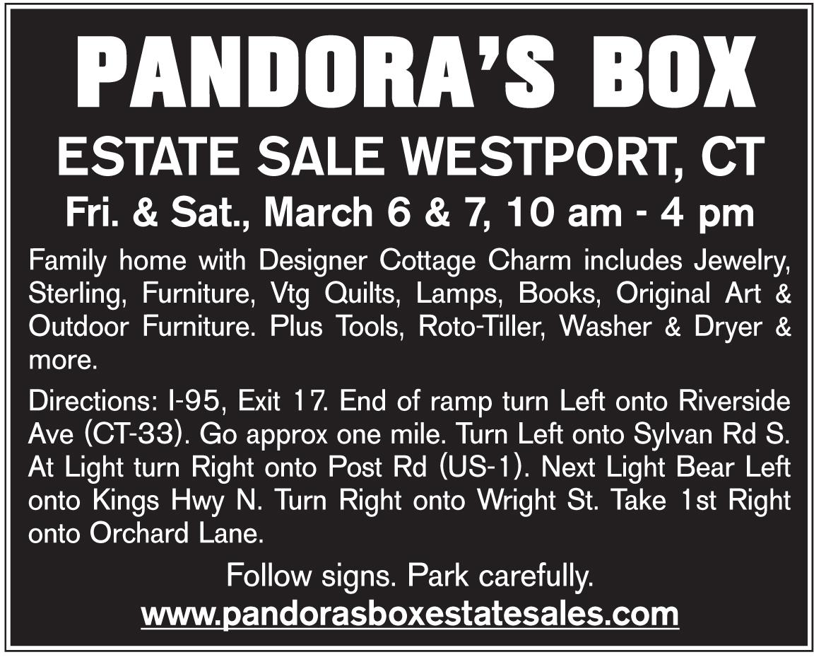 Westport CT Estate Sale by PANDORA'S BOX