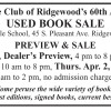 College Club of Ridgewood's 60th Annual USED BOOK SALE