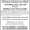 Duane Merrill MIDCENTURY, COUNTRY, & VINTAGE ESTATE AUCTION