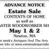 CONTENTS OF HOME & MASTER WOODWORKER SHOP Estate Sale