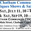 The Chatham Community Antiques Shows & Sales