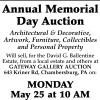 Gateway Gallery Annual Memorial Day Auction