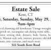 Kent CT Estate Sale