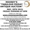 "MOONEY'S ""FABULOUS FRIDAY ANTIQUE AUCTION"""