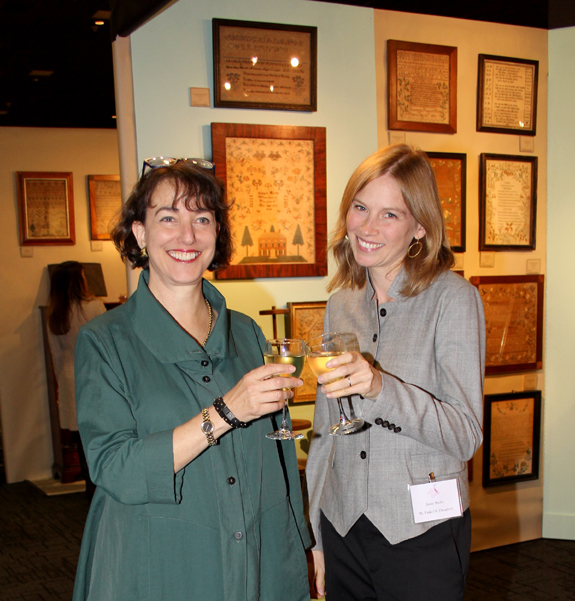 Amy Finkel and Jamie Banks toast to their good fortune.