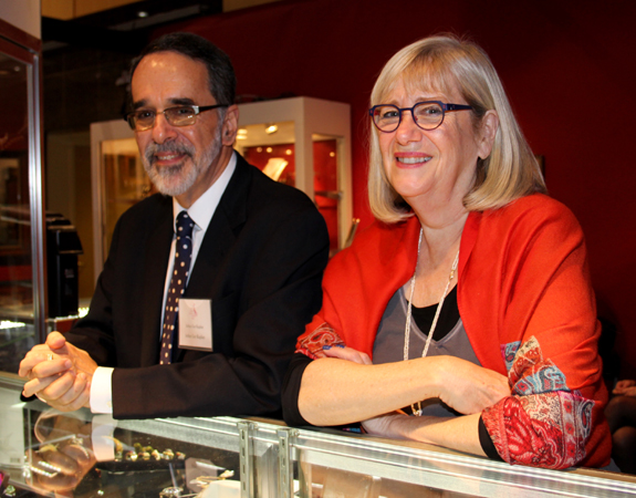 Arthur and Robyn Kaplan, Baltimore specialists in antique jewelry.