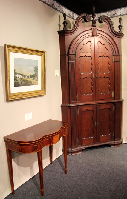 Downingtown, Penn., Philip H. Bradley, Co., sold this architectural corner cupboard from York County, Penn.