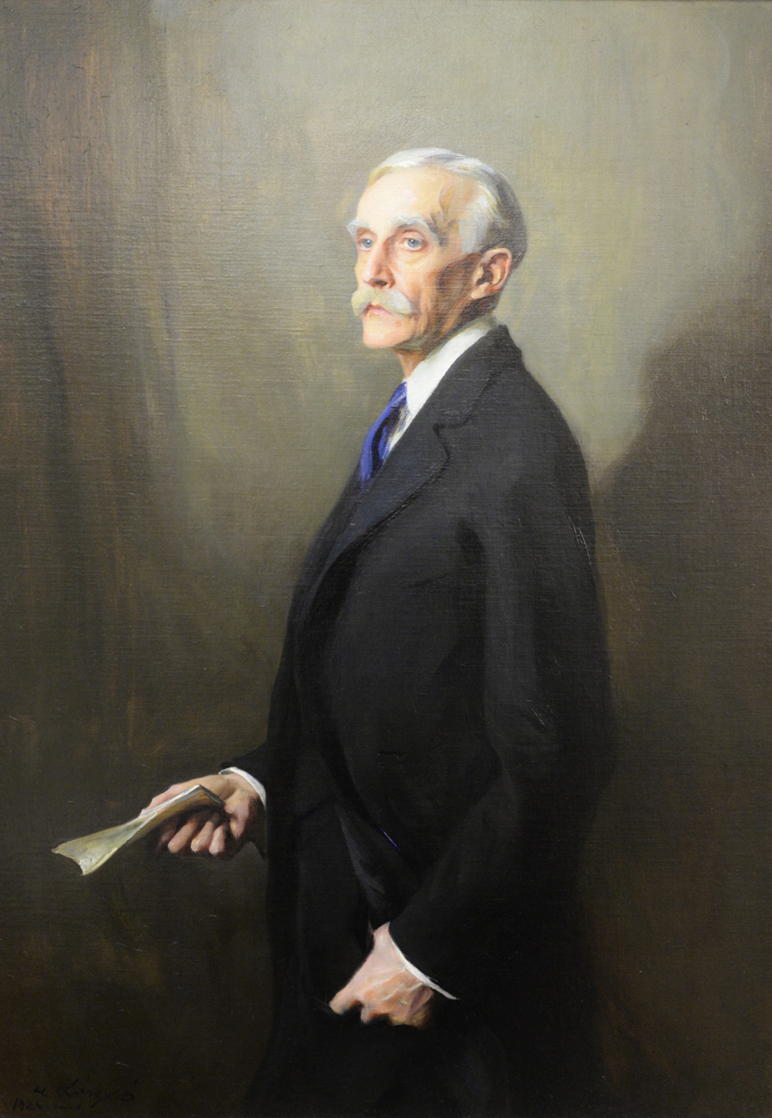"""Portrait of Andrew W. Mellon"" by Philip A. deLaszlo (1869–1937), 1926, oil on canvas, 52 by 36 inches,  $ 25,200 ($ 2/4,000). Mellon (1855–1937) was secretary of the treasury between 1921 and 1932, ambassador to the Court of St James's and director of the Pittsburgh National Bank of Commerce. Ex-collection of Credit Suisse."