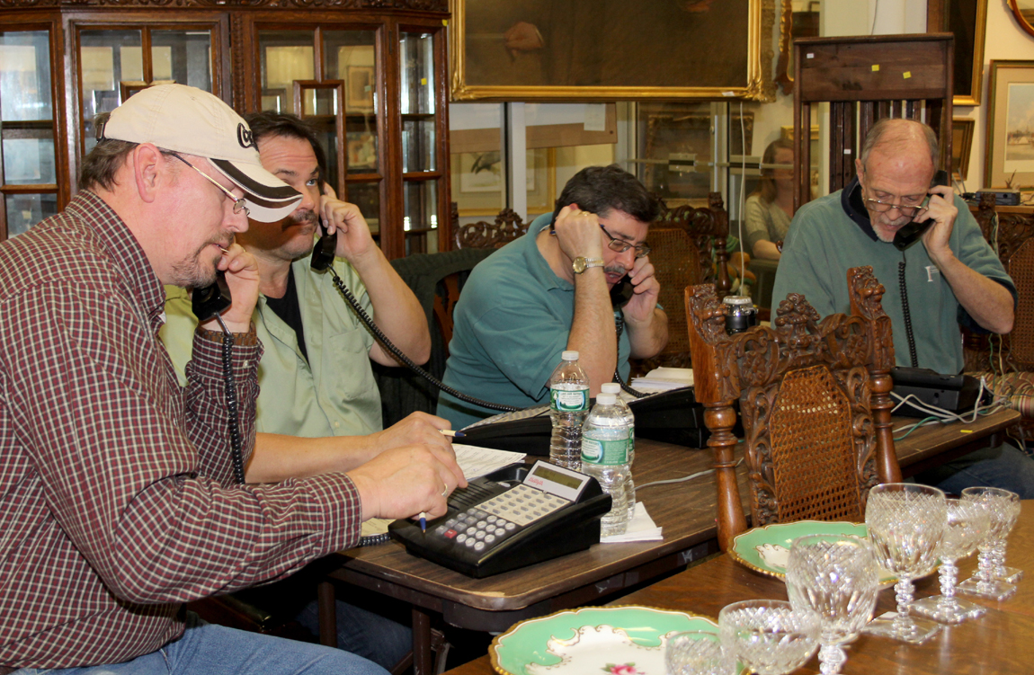 The sale kept an average of four to six house phones busy.