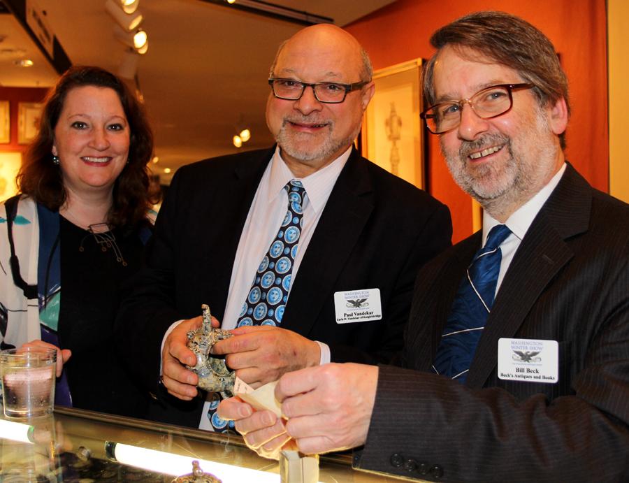 Exhibitors Deidre Healy, Paul Vandekar and Bill Beck.