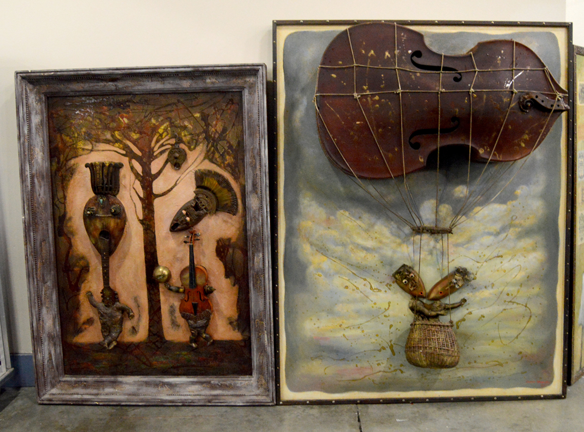 These three-dimensional paintings were eye candy at Russian Treasures,<br>Boca Raton, Fla.