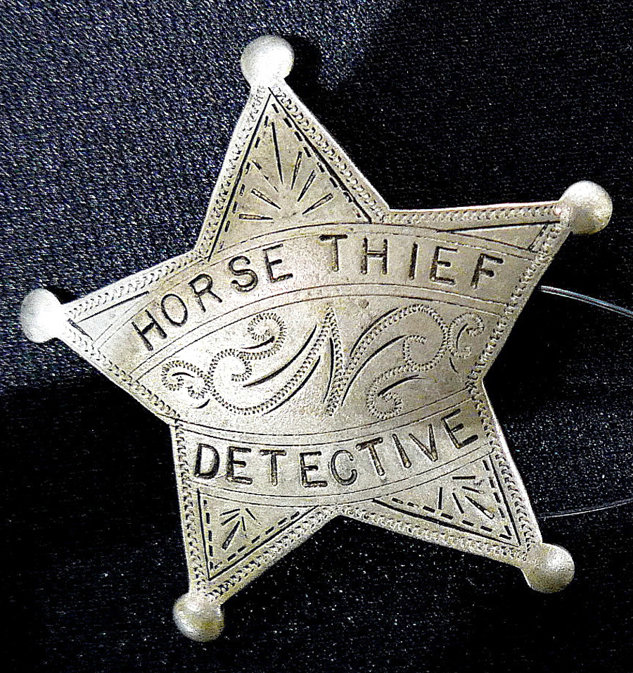 The rare Horse Thief Detective badge earned $ 1,573 in the auction.
