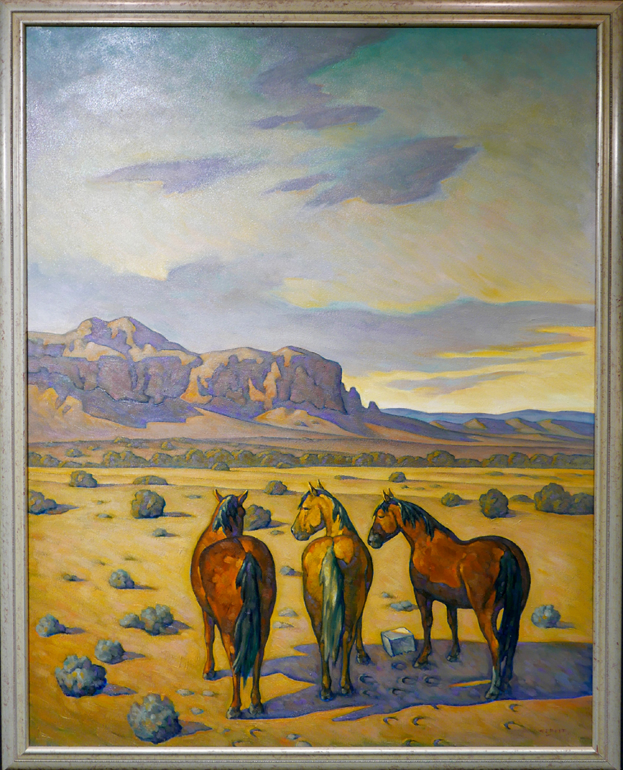 This Howard Post oil on canvas earned $ 27,225 in the auction.