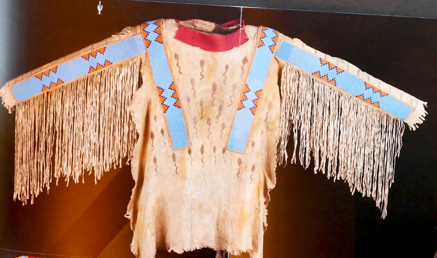 The top lot of the auction was this 1870 Blackfoot man's war shirt<br>that attained $ 109,250.