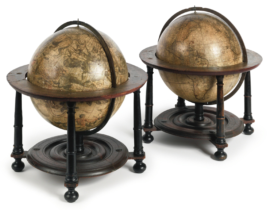Pennsylvania dealer Jenifer Kindig bought this pair of globes — one celestial, the other terrestrial — for young collectors for $ 72,500 ($ 60/90,000). The devices were made by the father and son craftsmen Gerard Valk and Leonard Valk of Amsterdam. They date to the first half of the Eighteenth Century.