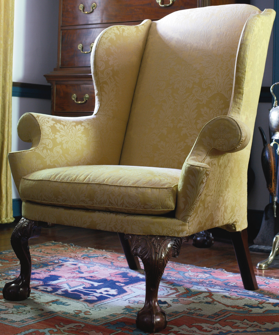 Philadelphia furniture was a strong suit. Formerly in the Wetzel collection, this carved mahogany Chippendale easy chair with Israel Sack, Inc, provenance sold at the low end of its range to a phone bidder for $ 322,000 ($ 300/500,000). Sotheby's noted restoration to its left knee return and right front foot.