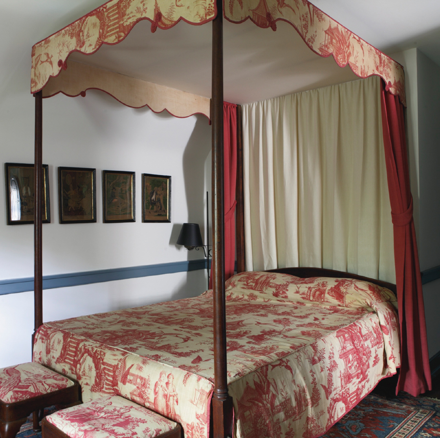 Antique beds can be a tough sell but this one has a long history. The circa 1750 Massachusetts Queen Anne example, $ 68,750 ($ 12/15,000), was originally owned by Revolutionary War General John Thomas (1724–1776) of Kingston, Mass. Israel Sack, Inc, later sold it to the Robbs of Buffalo, N.Y., before buying it back. The toile hangings came from Mrs George Maurice Morris of The Lindens in Washington, D.C. Charles Hummel noted that the bed had belonged to the Schorsches' eldest son, Irvin III, as a child and was identical to one that H.F. du Pont slept on in the Cecil Bedroom at Winterthur. Another bed, a Massachusetts example of about 1765, achieved $ 37,500 ($ 50/70,000). It had been with the Sack clients Mr and Mrs Mitchell Taradash.