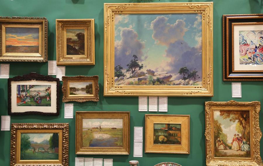 Works by Charles Curran, H. Vance Swope, Robert Thomas Jackson and Frederick D. Williams on show at Jaffe & Thurston, Wawarsing, N.Y.
