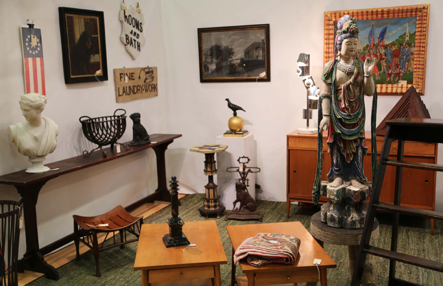 Cottage + Camp, Philadelphia, brought a collectors mix of decorative objects.