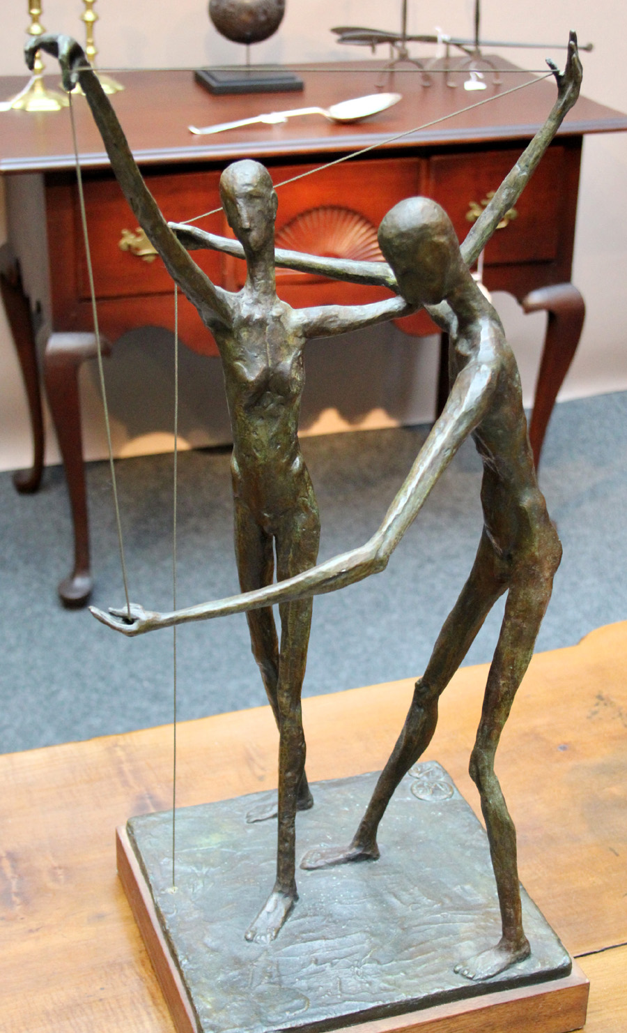"""One of many rarities at Nathan Liverant and Son was this Wolfgang Behl (1918–1994) bronze. The maquette relates to """"The Family,"""" a 15-foot bronze<br>the late Hartford Art School artist created for the UConn Health Center in Farmington, Conn."""