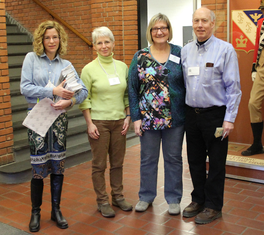 The Haddam Historical Society organizes the show. From left, show chair<br>Tracy LaComb, Haddam Historical Society board members Cindy Sullivan<br>and Emily Smith, and show treasurer Terry Smith.