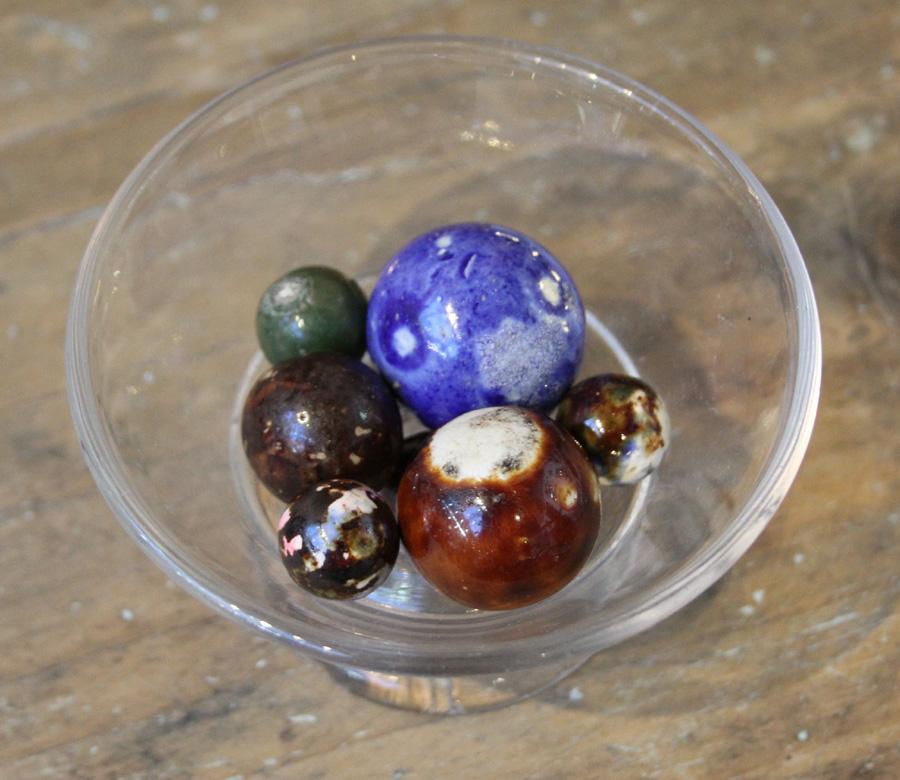 Bennington marbles at Jane Wargo, Wallingford, Conn.