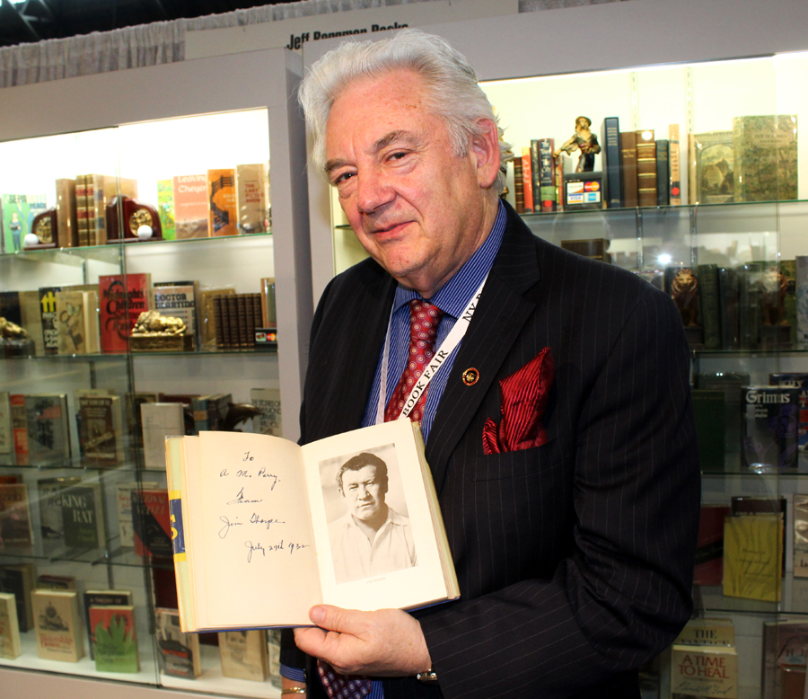 Jeffrey Bergman is a second-generation book dealer from Fort Lee,<br>N.J. Signed in 1932, the only book Olympian Jim Thorpe helped produce<br>was titled <i>Jim Thorpe's History of the Olympics</i>.