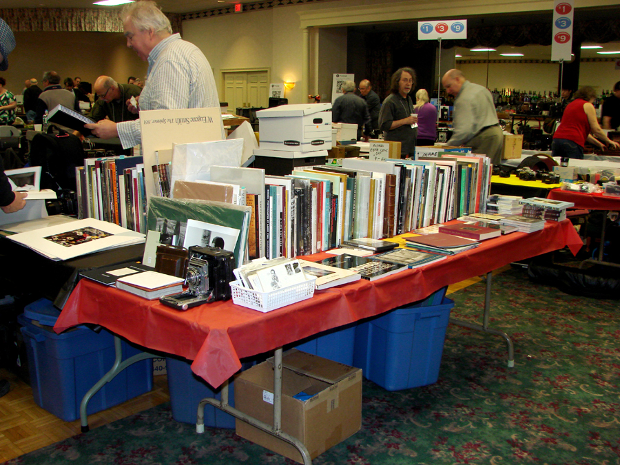 Tim Whalen, from Rockport, Maine, had a table full of reasonably priced reference books on photography.