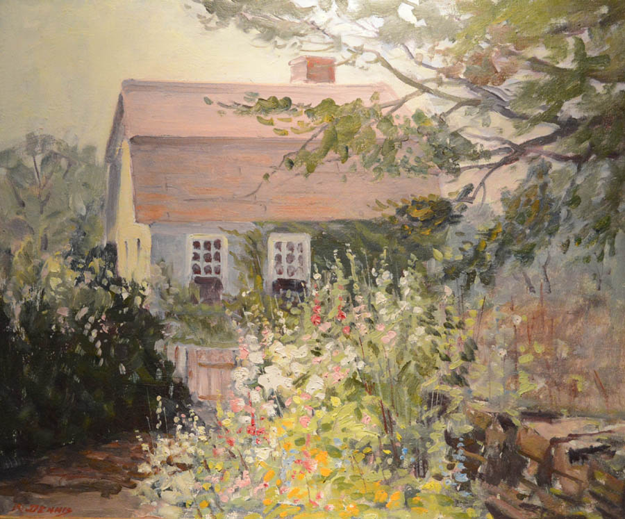 Garvey Rita Art & Antiques, West Hartford, Conn. and the Cooley Gallery,<br>Old Lyme, Conn., shared a booth, featuring garden-themed artworks.