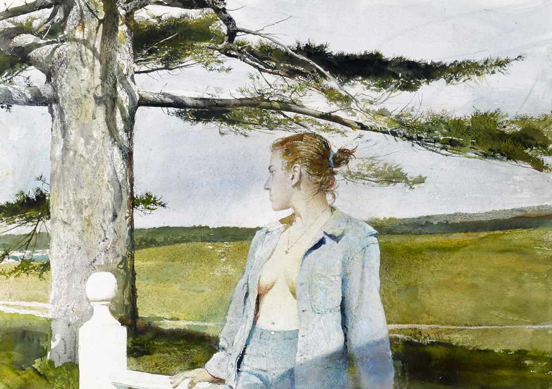 "Andrew Wyeth (1917-2009), ""Only Child,"" realized $ 305,000.<br>Image © 2016 Andrew Wyeth/Artists Rights Society (ARS), New York."