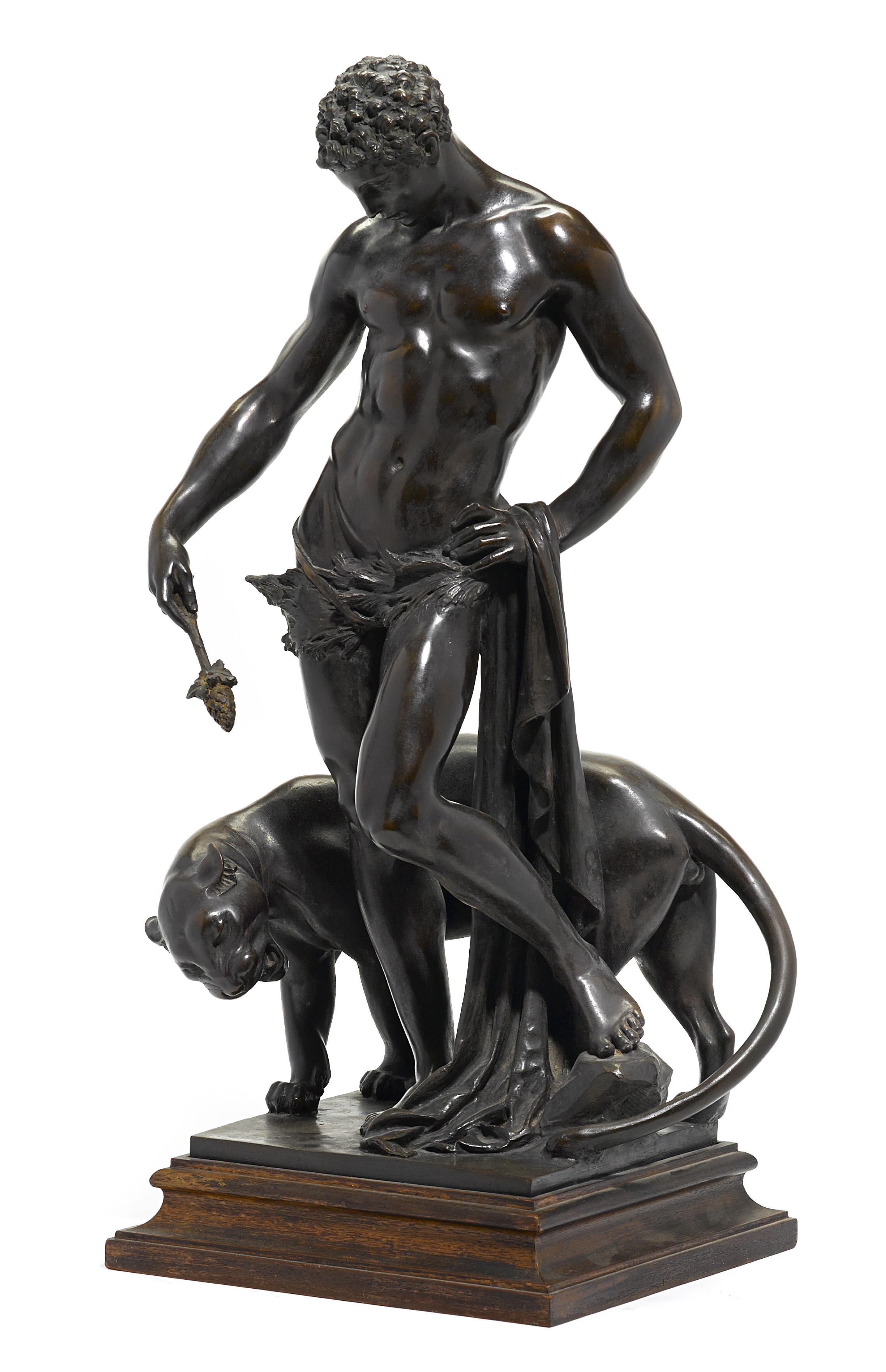 "Edward Francis McCartan (1879-1947),<br>""Dionysus (Boy and Panther Cub),"" fetched $ 209,000."