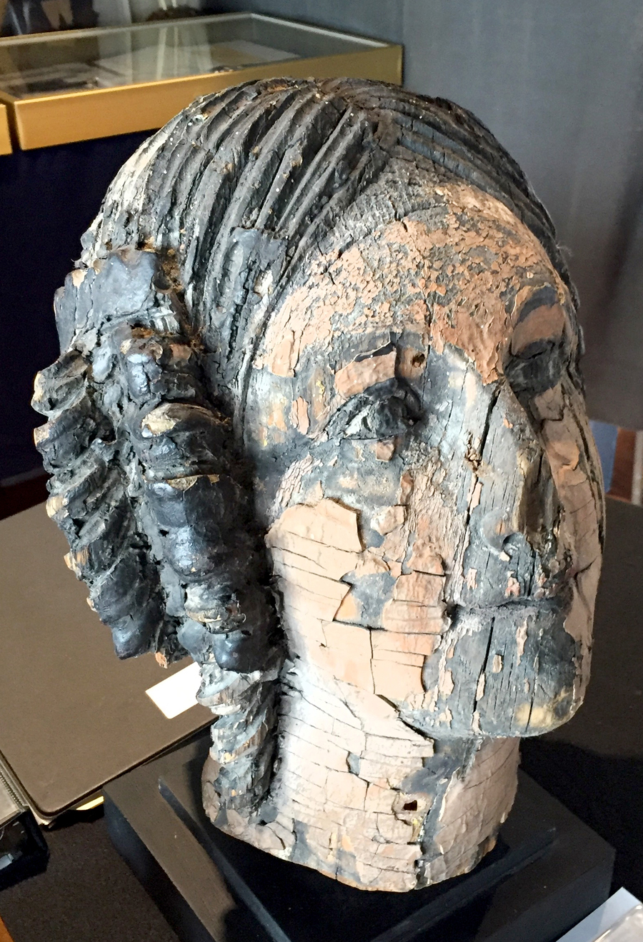 Ryan Cooper, a Yarmouth Port, Mass., dealer known for marine sculpture, featured a figurehead fragment salvaged from the British convict ship <i>Success</i>, built in 1840 and destroyed by fire in 1946. The famous vessel toured United States ports in the early Twentieth Century.