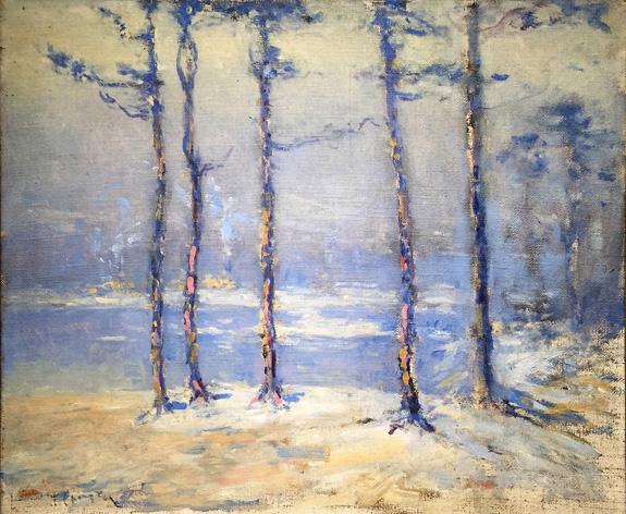 """""""Trees"""" by John C. Huffington (1864–1929)."""