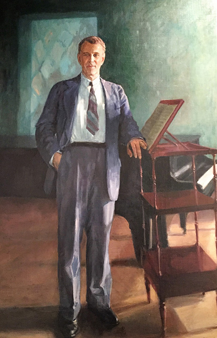 Portrait of pianist and composer Frank La Forge by Marie Safonoff Crane.