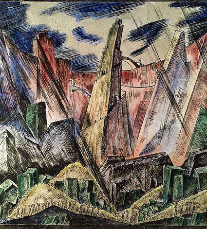 Robert Pallesen design on silver leaf paper, circa 1930.