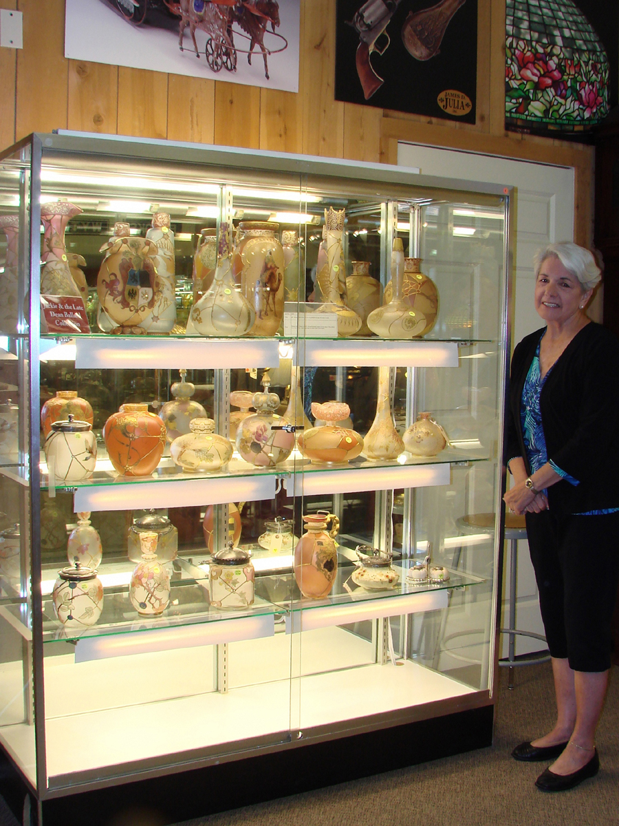 The collection of Royal Flemish glass had been assembled by Jackie Ballard and her late husband, Dean. She decided to sell the first part of their collection, without reserves.