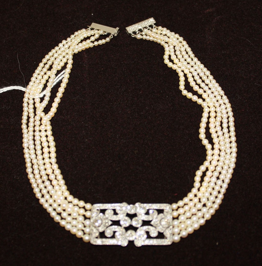 8-19 Marion Auction - Lot 13z Pearl Choker